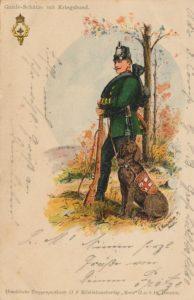 Собака-санитар. Открытка Первой мировой войны. Германия